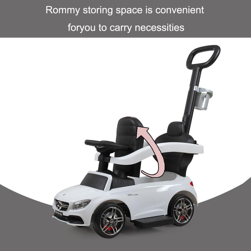 Mercedes Benz Ride On Push Car for Toddlers, White mercedes benz ride on push car for toddlers aged 1 3 years white 6 2