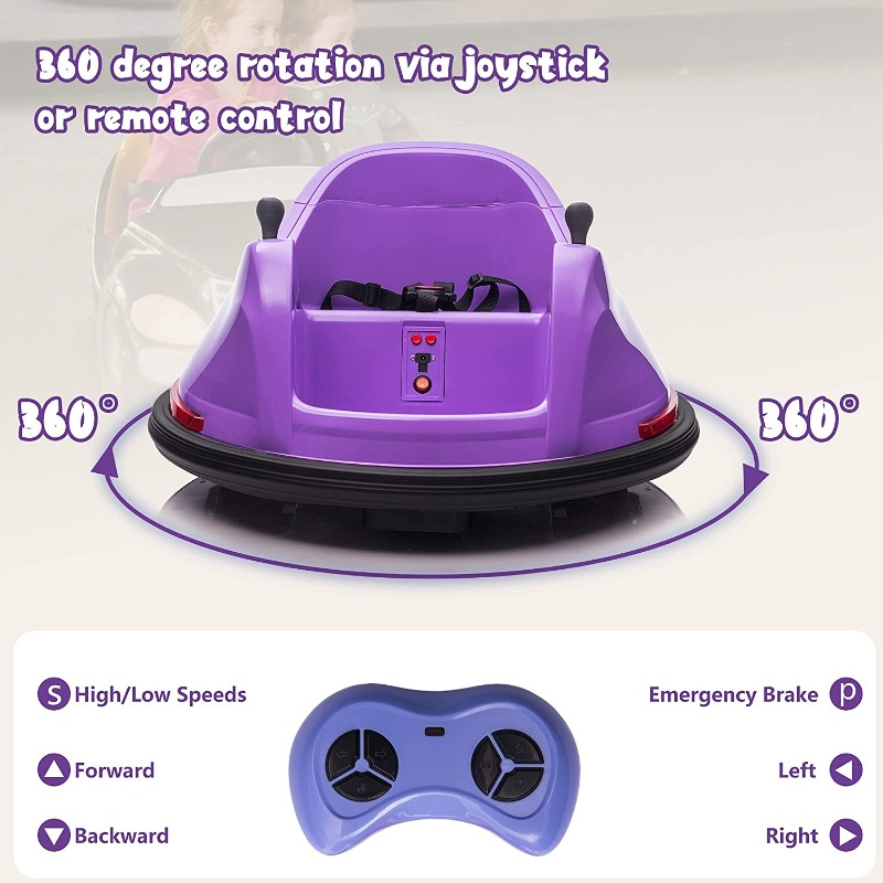 kids can enjoy a lot in many way with this purple kids bumper car
