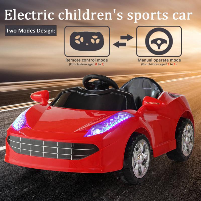 Kids Ride On Racing Car W/ Remote Control remote control kids ride on racing car red 27 1
