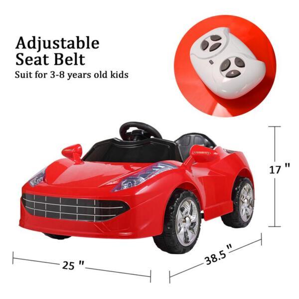Kids Ride On Racing Car W/ Remote Control remote control kids ride on racing car red 28 1