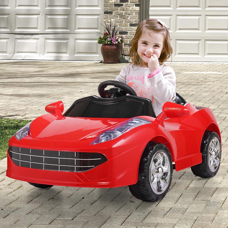 Kids Ride On Racing Car W/ Remote Control remote control kids ride on racing car red 33