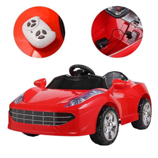 Kids Ride On Racing Car W/ Remote Control remote control kids ride on racing car red 34 1