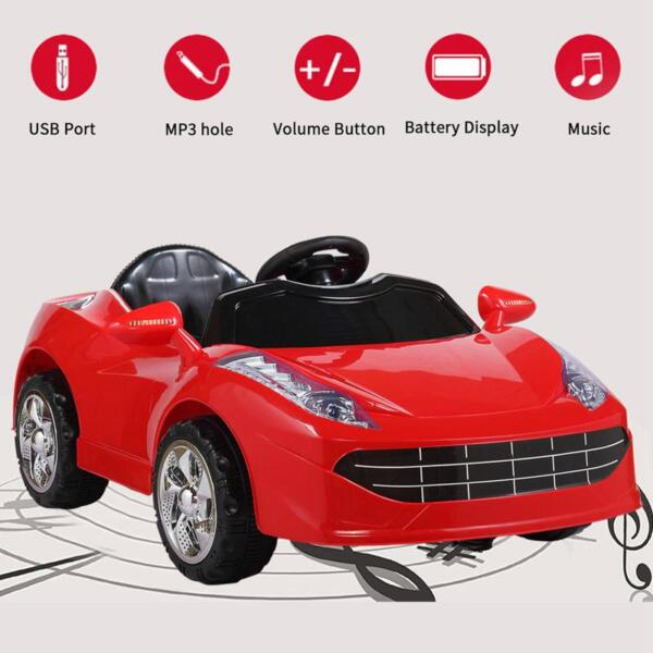 Remote Control Kids Ride On Racing Car, Red remote control kids ride on racing car red 37
