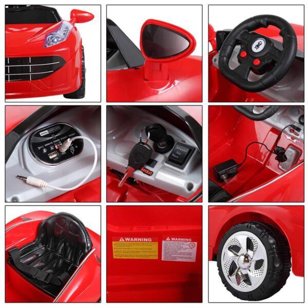 Kids Ride On Racing Car W/ Remote Control remote control kids ride on racing car red 45