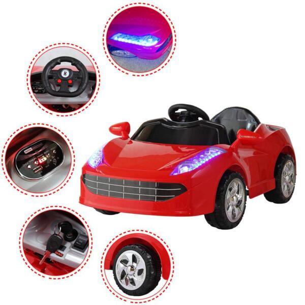 Kids Ride On Racing Car W/ Remote Control remote control kids ride on racing car red 50 1