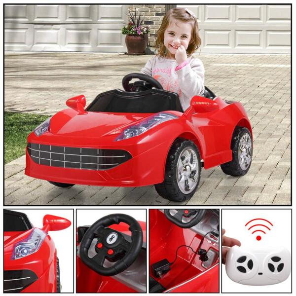 Remote Control Kids Ride On Racing Car, Red remote control kids ride on racing car red 56
