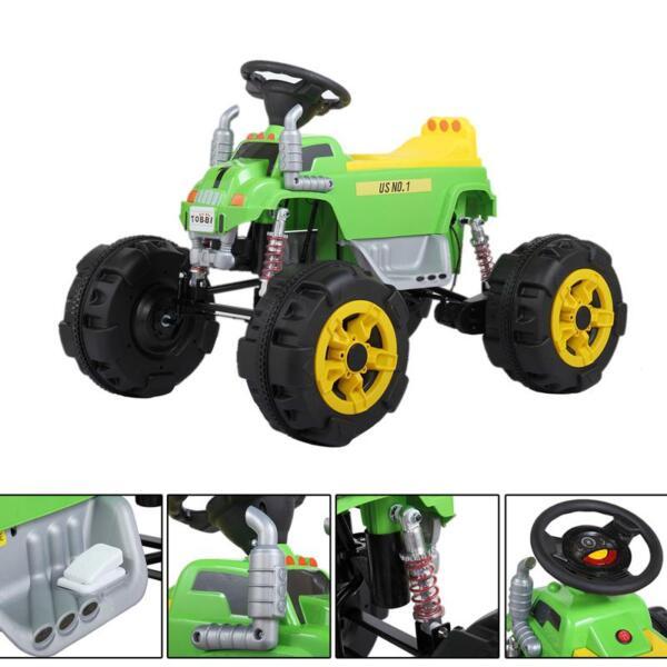 Ride On Car ATV 4 Wheel Shock Beach Vehicle, Green ride on car atv 4 wheel shock beach vehicle green 10