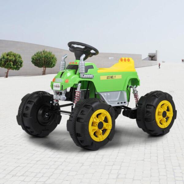 Ride On Car ATV 4 Wheel Shock Beach Vehicle, Green ride on car atv 4 wheel shock beach vehicle green 18