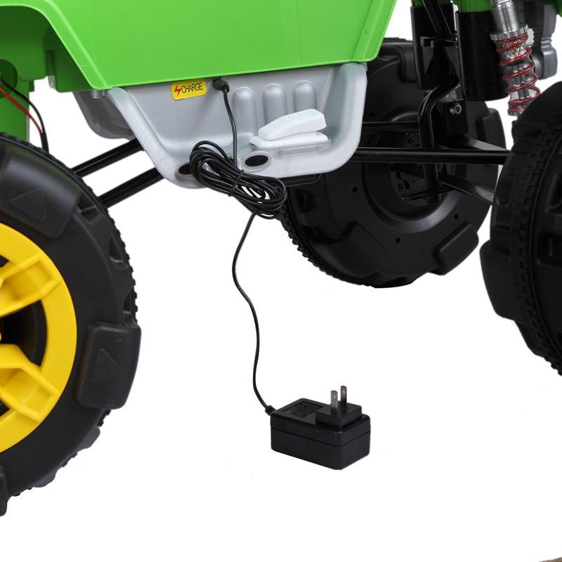 12V Ride On Electric Quad For Kids, Green ride on car atv 4 wheel shock beach vehicle green 8