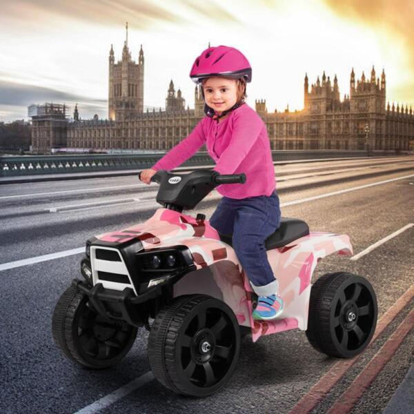 12V Electric Ride On Kids ATV, Pink ride on car atv 4 wheels battery powered 14