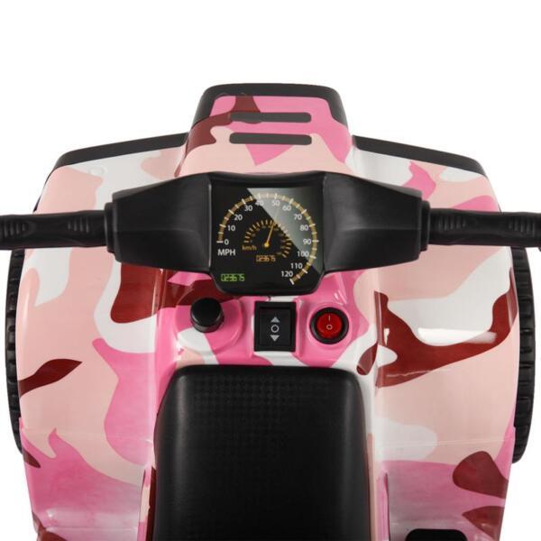 12V Electric Ride On Kids ATV, Pink ride on car atv 4 wheels battery powered 24