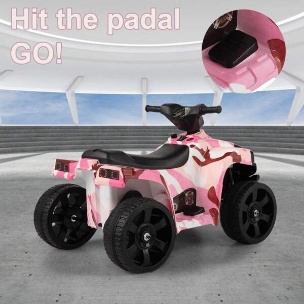 12V Electric Ride On Kids ATV, Pink ride on car atv 4 wheels battery powered 4