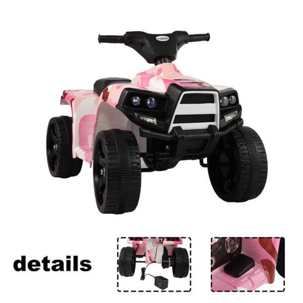 12V Electric Ride On Kids ATV, Pink ride on car atv 4 wheels battery powered 6