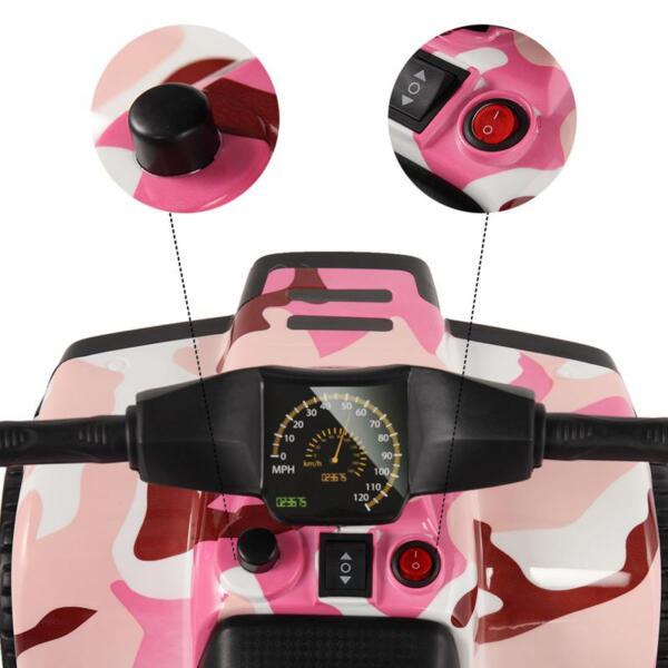 12V Electric Ride On Kids ATV, Pink ride on car atv 4 wheels battery powered 8
