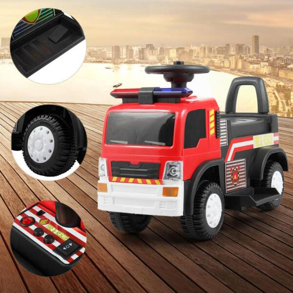 Ride On Fire Truck Car 6V Vehicle for Kids, Red ride on fire truck car 6v vehicle for kids red 25