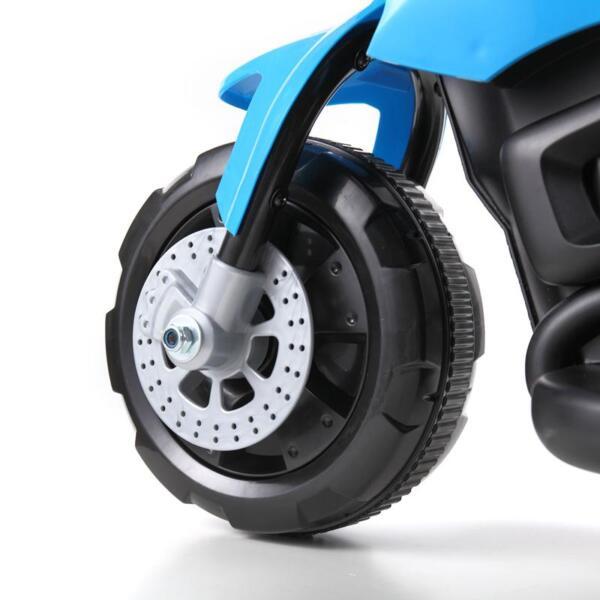 6V Battery Power Ride On Motorcycle for Kids, Blue ride on motorcycle 6v battery power bicycle for kids blue 13
