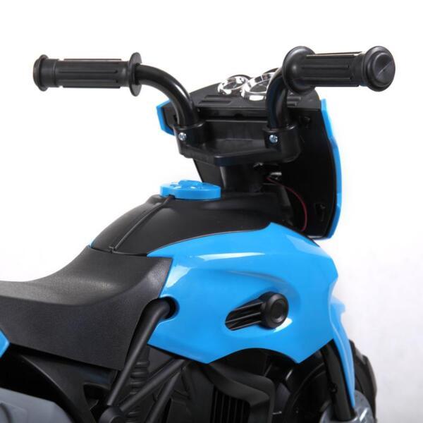 6V Battery Power Ride On Motorcycle for Kids, Blue ride on motorcycle 6v battery power bicycle for kids blue 14