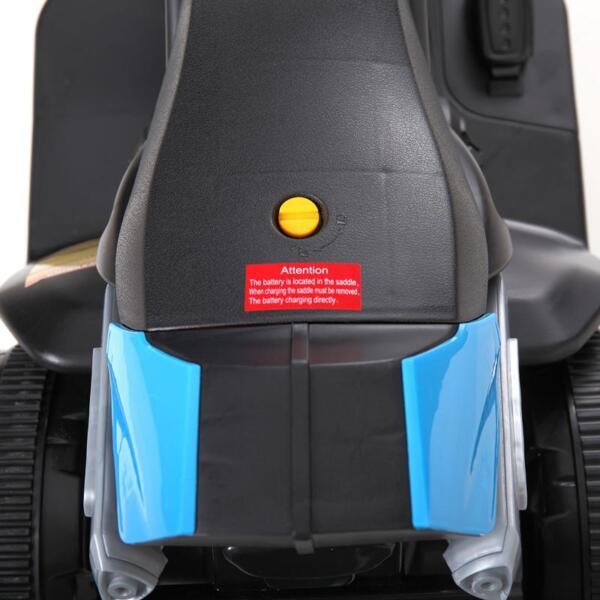 6V Battery Power Ride On Motorcycle for Kids, Blue ride on motorcycle 6v battery power bicycle for kids blue 15 1