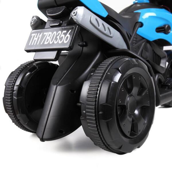 6V Battery Power Ride On Motorcycle for Kids, Blue ride on motorcycle 6v battery power bicycle for kids blue 16