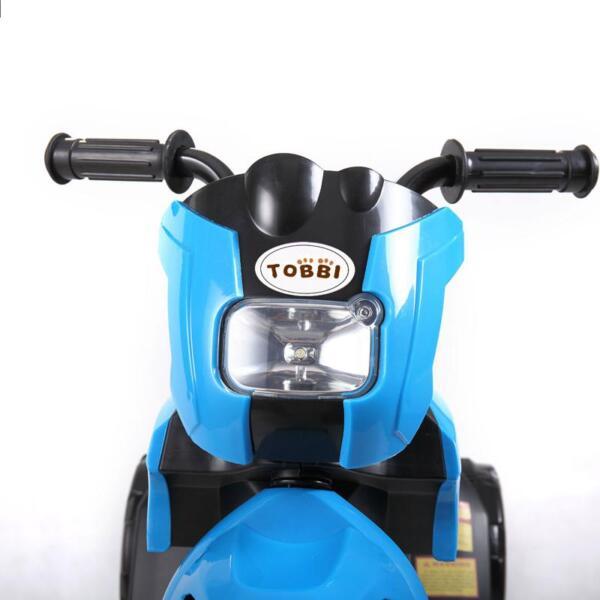 6V Battery Power Ride On Motorcycle for Kids, Blue ride on motorcycle 6v battery power bicycle for kids blue 17 1