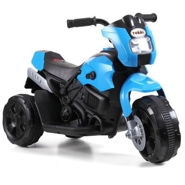 6V Battery Power Ride On Motorcycle for Kids, Blue ride on motorcycle 6v battery power bicycle for kids blue 2 1