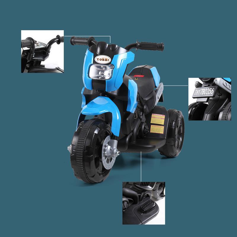 6V Battery Power Ride On Motorcycle for Kids, Blue ride on motorcycle 6v battery power bicycle for kids blue 21