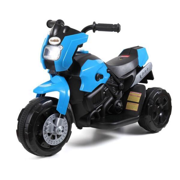 6V Battery Power Ride On Motorcycle for Kids, Blue ride on motorcycle 6v battery power bicycle for kids blue 4 1