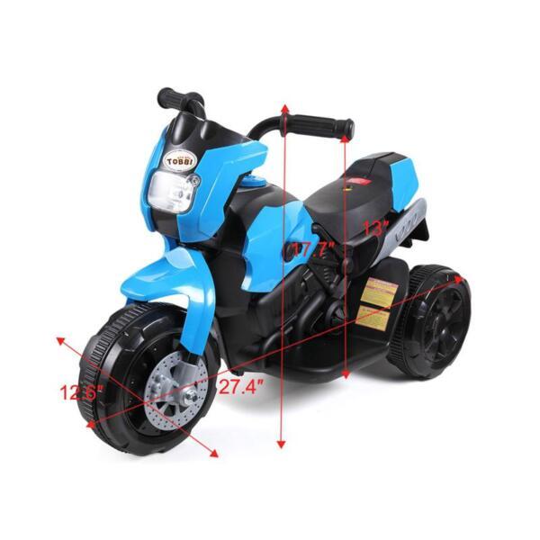 6V Battery Power Ride On Motorcycle for Kids, Blue ride on motorcycle 6v battery power bicycle for kids blue 5