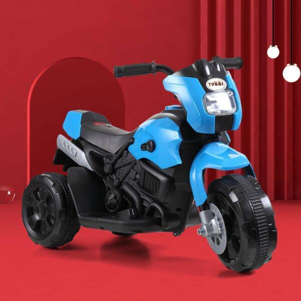 6V Battery Power Ride On Motorcycle for Kids, Blue ride on motorcycle 6v battery power bicycle for kids blue 6
