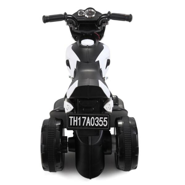 Ride On Motorcycle 6V Battery Power Bicycle for Kids, White ride on motorcycle 6v battery power bicycle for kids white 0 1