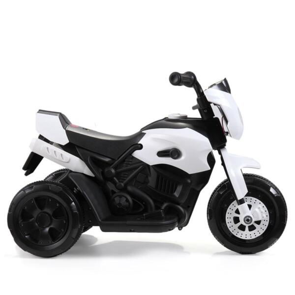 Ride On Motorcycle 6V Battery Power Bicycle for Kids, White ride on motorcycle 6v battery power bicycle for kids white 1