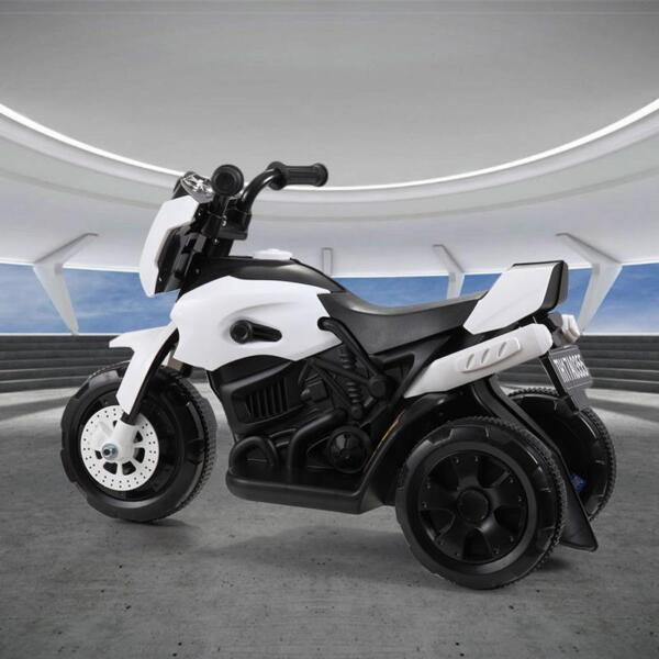 Ride On Motorcycle 6V Battery Power Bicycle for Kids, White ride on motorcycle 6v battery power bicycle for kids white 2 1