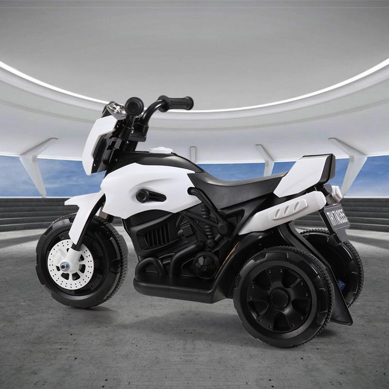6V Battery Power Ride On Motorcycle for Kids, White ride on motorcycle 6v battery power bicycle for kids white 2 2