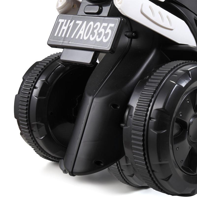 6V Battery Power Ride On Motorcycle for Kids, White ride on motorcycle 6v battery power bicycle for kids white 5 2