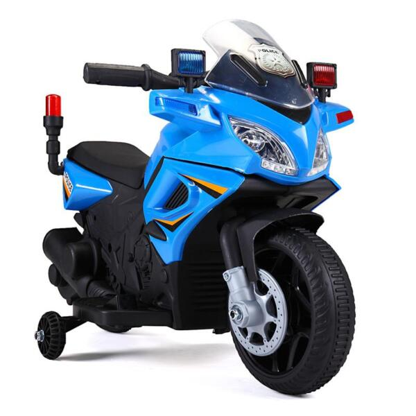 6V Ride On Police Motorcycle for 4 Years, Blue ride on police motorcycle for 2 4 years yellow 1