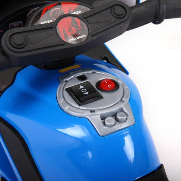 6V Ride On Police Motorcycle for 4 Years, Blue ride on police motorcycle for 2 4 years yellow 11
