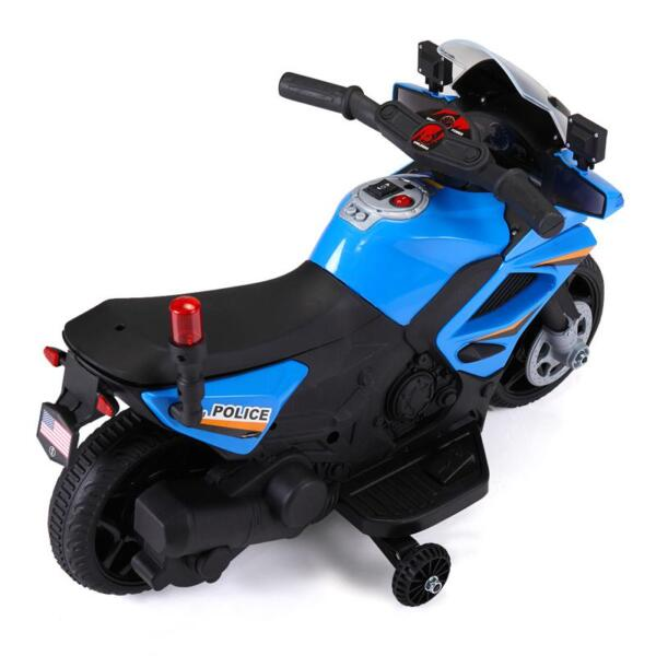 6V Ride On Police Motorcycle for 4 Years, Blue ride on police motorcycle for 2 4 years yellow 12