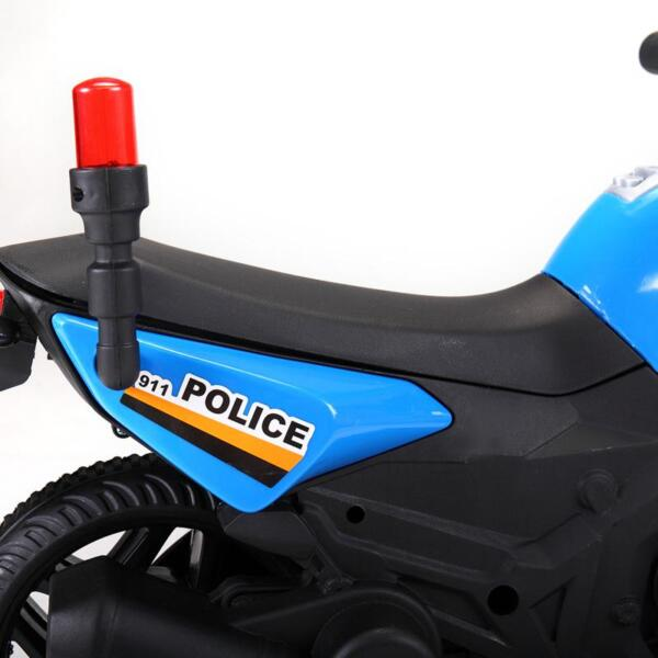6V Ride On Police Motorcycle for 4 Years, Blue ride on police motorcycle for 2 4 years yellow 13