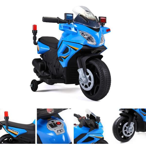 6V Ride On Police Motorcycle for 4 Years, Blue ride on police motorcycle for 2 4 years yellow 15