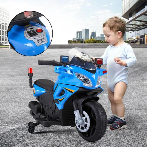 6V Ride On Police Motorcycle for 4 Years, Blue ride on police motorcycle for 2 4 years yellow 16