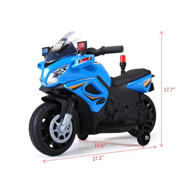 6V Ride On Police Motorcycle for 4 Years, Blue ride on police motorcycle for 2 4 years yellow 17 1