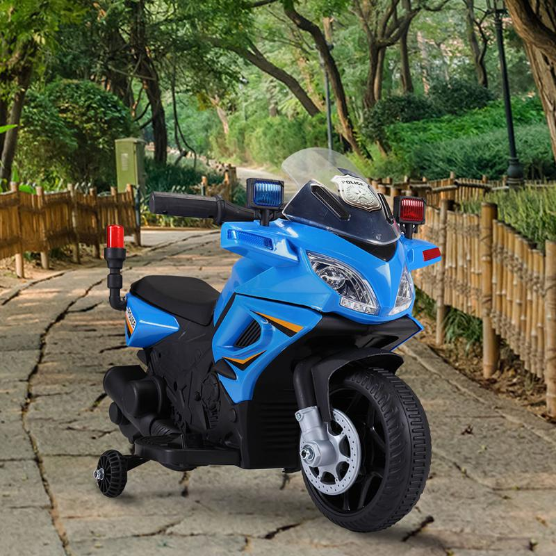 6V Ride On Police Motorcycle for 4 Years, Blue ride on police motorcycle for 2 4 years yellow 4 1