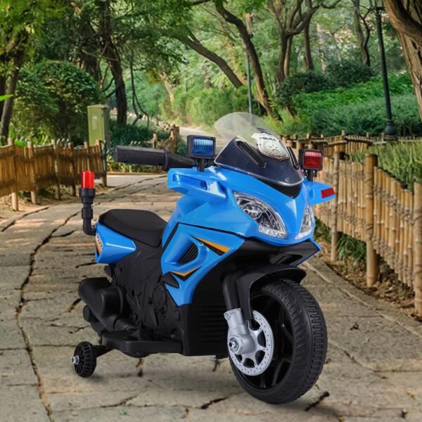 6V Ride On Police Motorcycle for 4 Years, Blue ride on police motorcycle for 2 4 years yellow 4