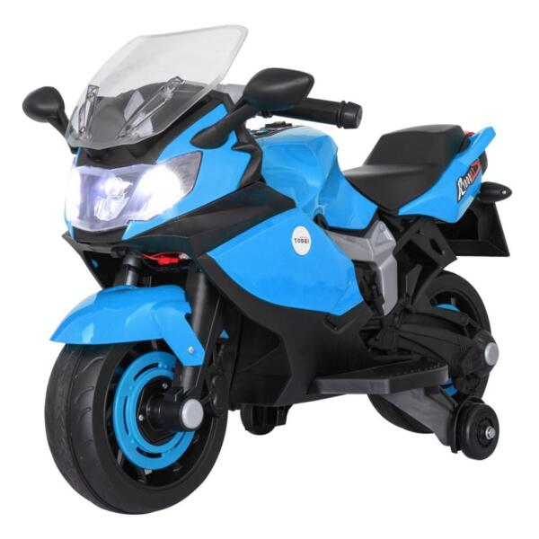 Ride On Toy Racing Motorcycle for Kids, Blue ride on toy racing motorcycle for kids blue 14