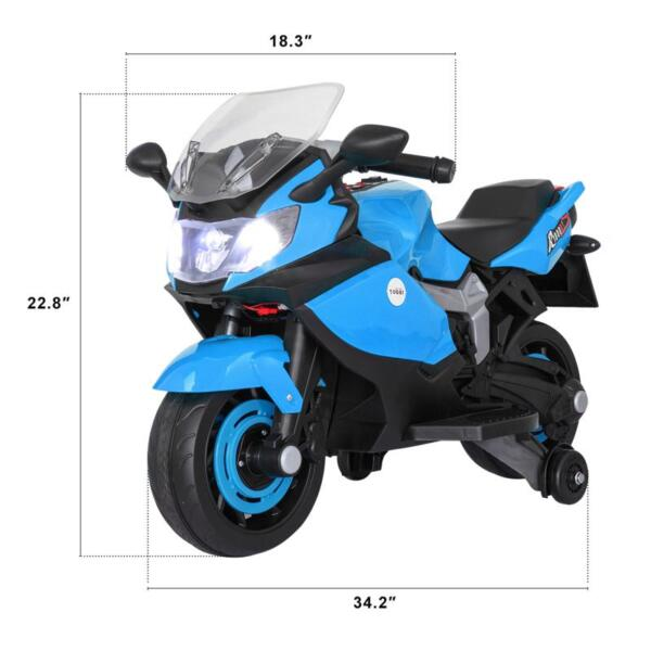 Ride On Toy Racing Motorcycle for Kids, Blue ride on toy racing motorcycle for kids blue 23
