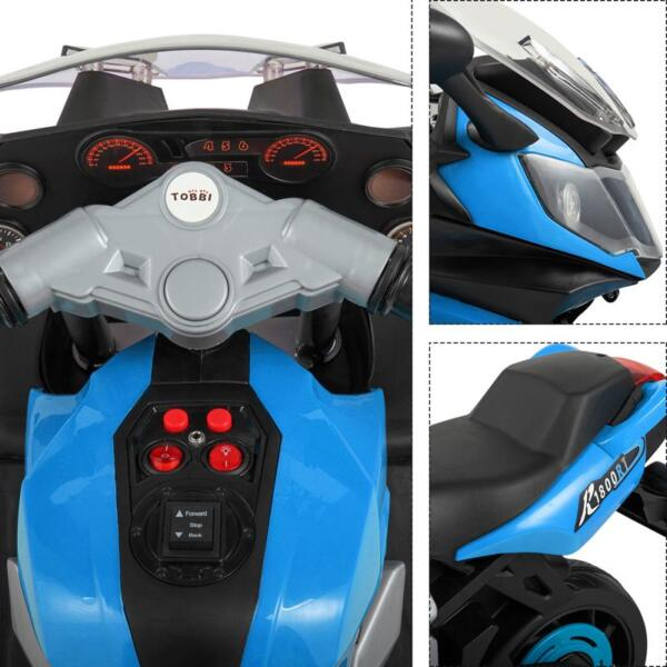 Ride On Toy Racing Motorcycle for Kids, Blue ride on toy racing motorcycle for kids blue 27
