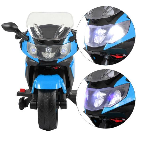 Ride On Toy Racing Motorcycle for Kids, Blue ride on toy racing motorcycle for kids blue 29 1