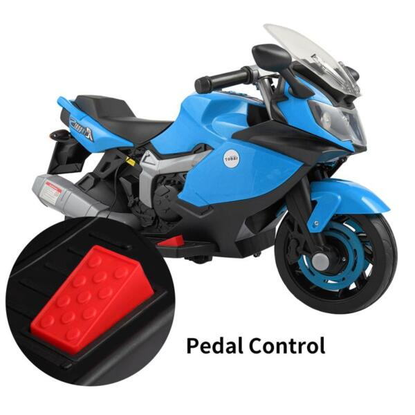 Ride On Toy Racing Motorcycle for Kids, Blue ride on toy racing motorcycle for kids blue 30 1