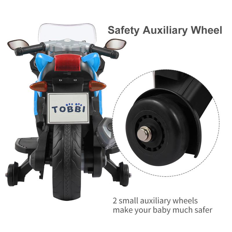 Electric Ride On Motorcycle Toy for Kids, Blue ride on toy racing motorcycle for kids blue 31 3