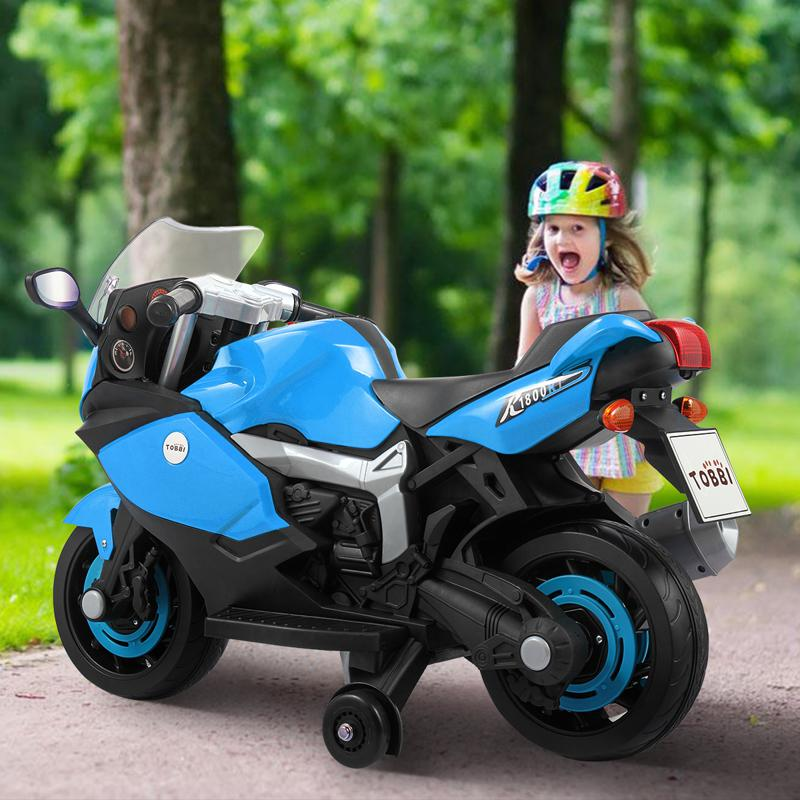 kids fancy this blue ride on motorcycle a lot